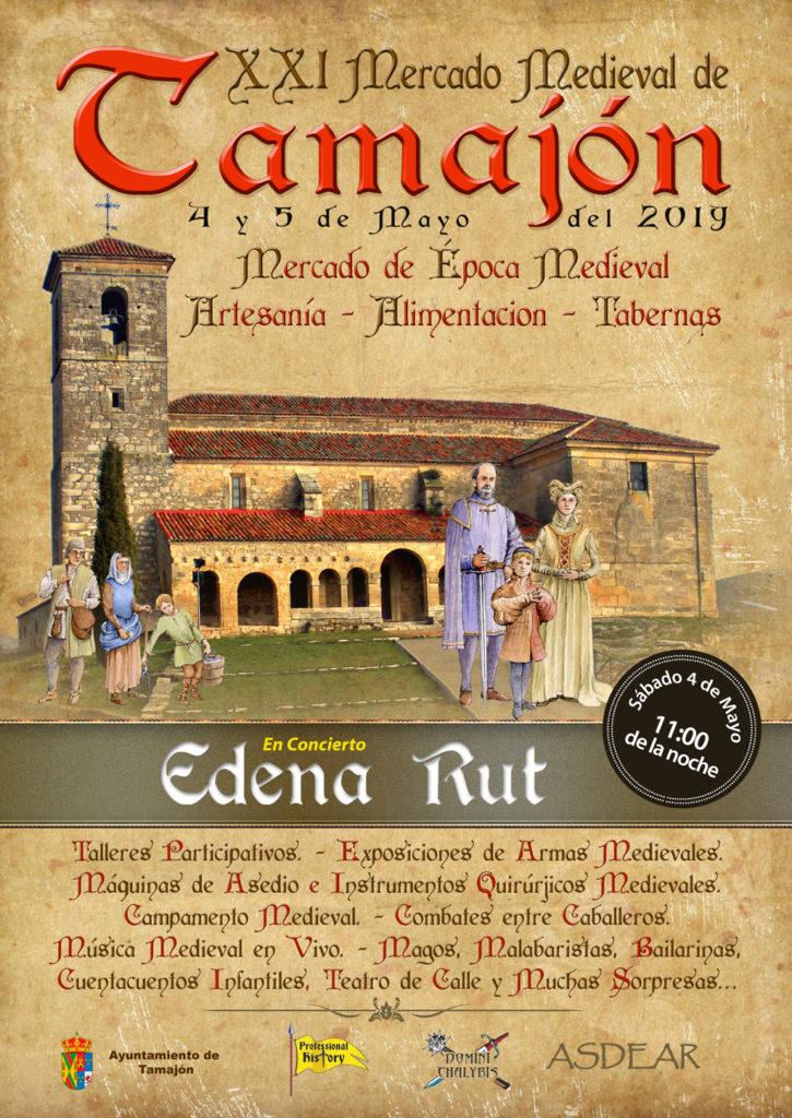 Cartel de la XXI edición del mercado medieval de Tamajón en la Sierra Norte de Guadalajara